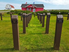 Day 4 - Memorial to soldiers who died in the wars at Old Harry (Bobcatnorth) Tags: lesilesdelamadeleine magdalenislands quebec canada summer 2018 cycling velo bicycle bicycling cycletouring bicycletouring touring tourdevelo gulfofstlawrence