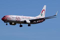 CN-RGV Royal Air Maroc Boeing 737-85P(WL) (Dutchairplaneshooter) Tags: cnrgv royal air maroc boeing 737800 special livery landing bru ebbr brussels airport nikon d3300 blue 60 years