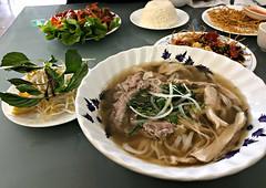2018 Sydney: Beef & Chicken Pho (dominotic) Tags: 2018 food lunch meal huonggiangvietnameserestaurant yᑌᗰᗰy innerwestsydney beefchickenpho soup iphone8 marrickville australia