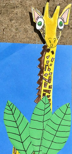 """1st grade African Giraffe Paintings #giraffe #drawing #painting #art #collage #1st #1stgrade #arteducation • <a style=""""font-size:0.8em;"""" href=""""http://www.flickr.com/photos/57802765@N07/43894772911/"""" target=""""_blank"""">View on Flickr</a>"""