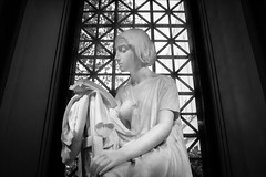 Enraptured (dayman1776) Tags: washington dc capital united states usa sculpture statue skulptur escultura american art museum smithsonian saam national gallery black white bw monochrome classical