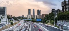 Madrid - Entrada por la Carretera de Colmenar (jorge.alonsodejuan) Tags: madrid cuatro torres ctba carretera colmenar long exposure sunset last light panorama sony a7rii