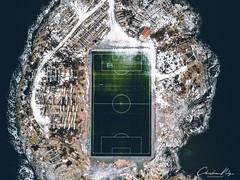 A football field on Lofoten Islands in Henningsvaer (Christian@Nitz) Tags: ice snow winter soccerfields mavic 2018 lofoten nordland norwegen no