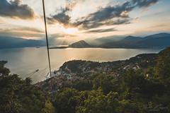 view over Laveno-Mombello (T. Kaiser) Tags: lagomaggiore lavenomombello laveno lombardei italien italy sony see wasser sonyilce7rm3 fe1635mmf4zaoss cablecar sassodelferro