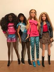 Four.... (Gavapillar) Tags: barbiesummer barbiechristie barbiebasics barbielifeinthedreamhouse barbiefashionshow barbiefashionista barbiedoll barbie