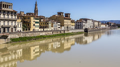 Lungarno delle Grazie (Hans van der Boom) Tags: vacation holiday europe itay tuscany firenze florence arno river lungarnadellagrazie buildings reflection italy it