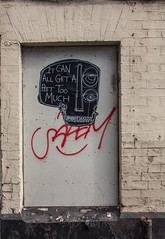 it can all get a bit too much (PDKImages) Tags: streetart manchesterstreetart posterart urbanart street scene manchester