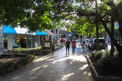 Late in the Afternoon (Jocey K) Tags: sunshinecoast queensland australia noosa people street cars trees building shadows