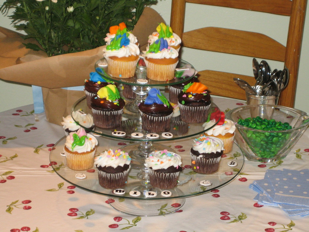 The cupcake tiers were a hit!
