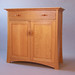 White Oak Server with Cherry Pulls 42