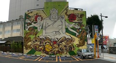 ESOW (chipple) Tags: autostitch streetart art japan graffiti mito ibaraki legalwall esow