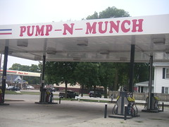 Biggest Innuendo Ever! (facebook.com/biketourist) Tags: wisconsin gas gasstation pump innuendo munch pumpnmunch