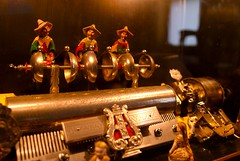"1895 ""Station"" Cylinder Music Box with Bells, Automata (mv4) Tags: music station bells switzerland coin dolls dancing bell box swiss norwalk ct historic cylinder mansion freres automata automaton mathews operated 1895 strikers lockwood chinamen airs mermod"