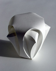 Pentagonal Pod (Richard Sweeney) Tags: sculpture art geometric nature paper paperart design origami natural fineart craft folded organic paperfolding papercraft naturalform papersculpture artsculpture paperstructure  pentagonal organicform richardsweeney