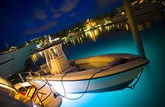 Night on the Water (Thomas Hawk) Tags: trees houses light sky topf25 water clouds boats lights boat fav50 10 fav20 palm atlantis bahamas fav30 paradiseisland fav10 fav25 fav40 superfave