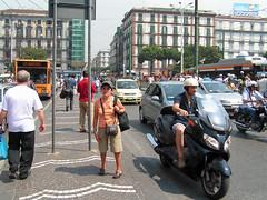 Piazza Garibaldi Bus Station (jovike) Tags: street city people urban italy italia traffic candid transport napoli naples espe