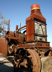 "A museum, of sorts... ((Concepts by) Nicholas Daniel ""@tak"" Lopez) Tags: hinge wood old tractor chevrolet metal museum truck vintage wooden rust antique steel web rusty rubber dirty equipment caterpillar cobweb machinery dirt rusted holt machines relics toolbox fordson"