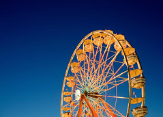 Chariots of Gold (Todd Klassy) Tags: county travel carnival blue light sky abstract color art classic beautiful wheel electric horizontal wisconsin dark landscape fun outdoors lights golden evening design big ride dusk steel statefair fineart lightbulbs machine bluesky fair ferris illuminated lookingup celebration entertainment vision manmade ferriswheel tall recreation copyspace thingstodo summerfun bigwheel countyfair 4h wi enjoyment lattice fayre girders clearsky gondolas elkhorn agriculturalfair carnivalride artistry walworth stockphotography rurallife royaltyfree colorimage geometricshape creativelighting tallstructure crossbeams funatthefair walworthcountyfair summerlights summerinwisconsin mechanicalapparatus thingstodointhesummer