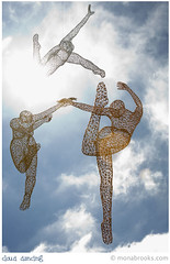 Dancing art (SFMONA) Tags: blue sky sculpture art clouds wire marin northbay sausalitoartfestival dancng ilovetodream firsttheearth