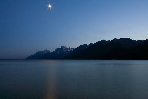 Jackson Lake by Moonlight