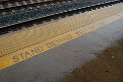 wet yellow line (bluesky88) Tags: new york railroad slr wet yellow train d50 subway nikon images line transit jersey dlsr bluesky88