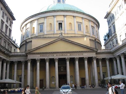 Church of San Carlo Al Corso near Duomo, Milan Italy
