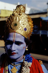INDIA - Vivid colors (BoazImages) Tags: blue portrait india face colorful sad makeup ap krishna andhra southindia kuppam