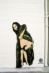 Moona Lisa (MarenB) Tags: graffiti stencil nick walker c6 nuart numusic nickwalker