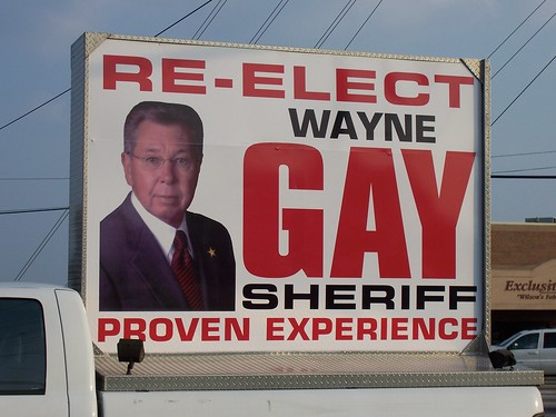 Re-Elect Gay Sheriff