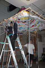 Edith & Bob roofing (Marshall Astor - Food Fetishist) Tags: roof art artist apocalypse plastic installation plasticbags artexhibition thebrewery brewey edithabeyta bobtower contemplatingapocalypse breweryproject