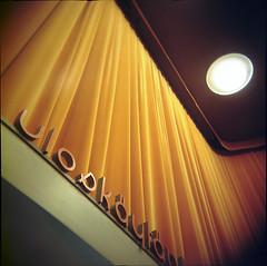 Bio Rex (V) (miemo) Tags: cinema 120 6x6 film topf25 architecture suomi finland movie typography holga helsinki europe theater theatre kodak interior vignetting portra finnishdesign biorex kodakportra100t interestingness124 explored i500