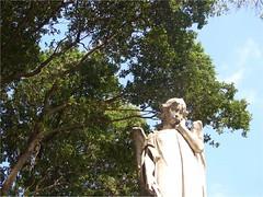 Maria Sometimes Forgets (Clarissa Butelli) Tags: brazil sky sun sol latinamerica southamerica cemetery rio statue riodejaneiro day catholic religion dia cemitrio esttua religio catlico sojoobatista