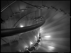 Stairway at (Apple Store) (Danz in Tokyo) Tags: leica bw white black glass japan wow real japanese lights tokyo interestingness asia candid stairway explore staircase  nippon  fz30 nozoom danz danzintokyo candidandnozoom realtokyo