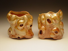 Lip to Lip Cups (clayglazepots) Tags: art ceramics cups pottery guss robison uncp gusstiffpottery