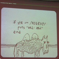 """Why"" speaks regex (urbanwide) Tags: london europe rails rubyonrails whytheluckystiff railconf railsconfeurope upcomingevent78942 eurorailsconf"