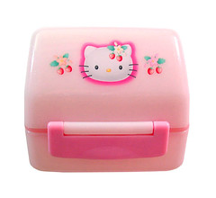 Hello Kitty strawberry onigiri box 2001 (pkoceres) Tags: pink japan lunch strawberry hellokitty sanrio onigiri bento  riceball     boughtonebay   hellokittystrawberry