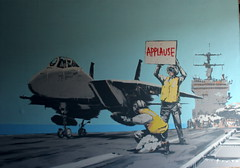 Banksy Barely Legal - by Beopenguin