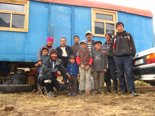 The family (plus extras) that invited me in - near Oruk-Tam, Kyrgyzstan