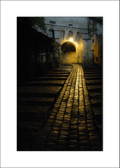 light at the gate (S. Lo) Tags: travel light mystery night gate europe romania sighisoara transylvania roumanie ltytr1 3wayanniversary1 thechallengefactory