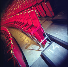 Bio Rex (I) (miemo) Tags: cinema 120 6x6 film architecture suomi finland movie holga helsinki europe theater theatre kodak interior getty vignetting portra gettyimages biorex kodakportra100t