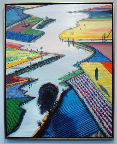 wayne thiebaud paintings. Wayne Thiebaud - Rivers and