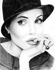 Angelina Jolie (ladyLara ( Laura Blc )) Tags: portrait people bw woman laura celebrity art lines pencil sketch blackwhite artwork handmade drawing drawings line angelinajolie romania myart actor angelina jolie portret cluj arta myway angi desen creion schita abigfave ladylara laurabalc laurablc blc celebritydrawings