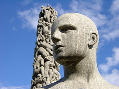 Vigeland Sculptures (mattrkeyworth) Tags: life park boy sculpture male oslo norway statue sony gustav p1 frognerpark vigeland gustavvigeland dscp1 anawesomeshot newlighte mattrkeyworth