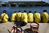 065D18488 (Paulgi) Tags: people woman portugal yellow river book europe drummers outtake agonia viana 25mm pilgrims romeiros minho romaria paulgi romeirosouttakes