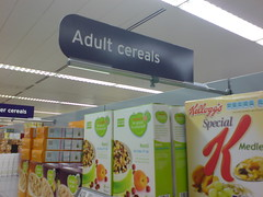 Adult Cereals (artesea) Tags: adult sainsburys cereals