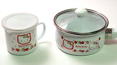 Hello Kitty Strawberry Saucepan & Mug (pkoceres) Tags: pink cup kitchen coffee japan strawberry tea hellokitty sanrio pot mug pan lid cookware tableware dishware enamel enamelware        boughtonebay   hellokittystrawberry