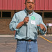 Keith Ellison, campaigning for Congress, at the Waite Park Fall Festival, Sept. 30, 2006
