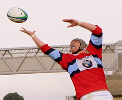 1447 - Top half (M R Fletcher) Tags: sport ball jump durham rugby drop gateshead catch secondrow stockton oval lineout markfletcher competitive rugbyunion stationroad utatainhalf grahamarkle