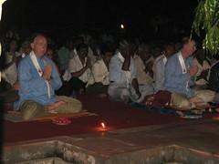 Mahabodhi Temple   puja at night
