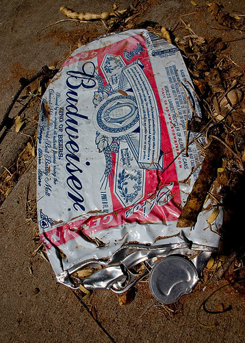 Crushed Budweiser Can